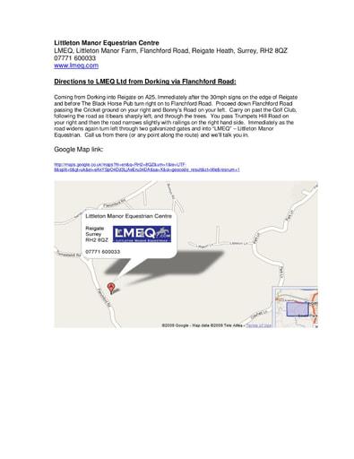 LMEQ Dorking via Flanchford Road