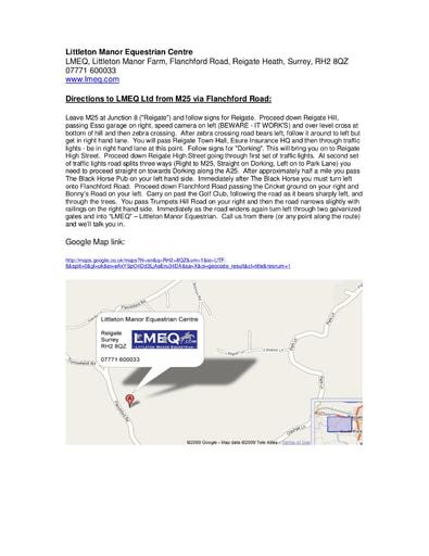 LMEQ M25 via Flanchford Road